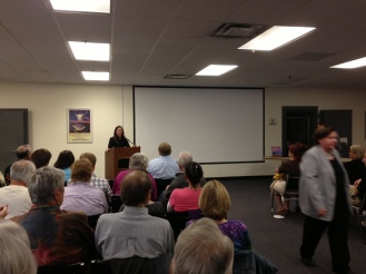 Nicole talking at Schoon book signing 6-2013