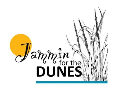 Jammin for the Dunes final logo