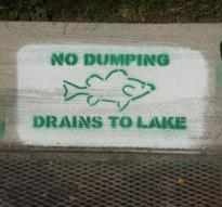 drains to lake
