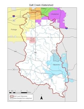 salt creek watershed map