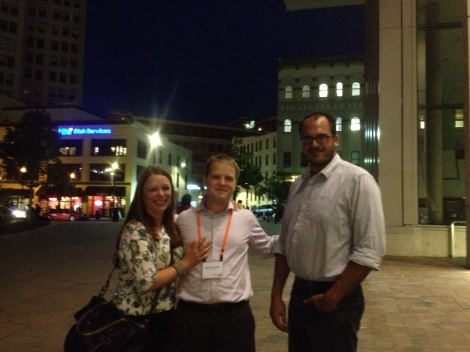 Executive Director Nicole Barker and board members Ryan Strode and Tom Conway at the reception at Grand Rapid's art museum. What a beautiful city!